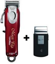 Cortapelos Wahl Magic Clip Cordless Profesional + afeitadora de viaje