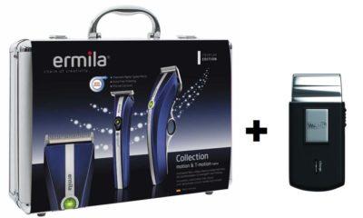 Pack Cortapelos Ermila Motion + Nano Midnigth Blue Edition + afeitadora de viaje
