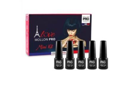 Mini Kit Starter Mollon Pro Manicura semipermanente Hybrid Care